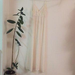 Cream Boho Long Dress